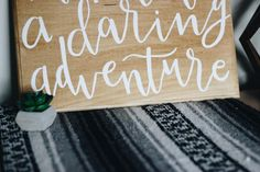 Make Life A Daring Adventure Handlettered by BlankPageLettering