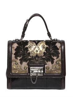 Dolce & Gabbana Monica Brocade & Ayers Top Handle Bag on shopstyle.co.uk