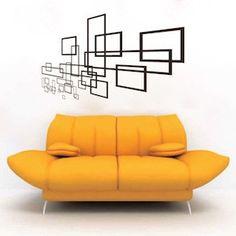 Geometric Slate Wall Decal & Vinyl Wall Art From Trendy Wall Designs Modern Wall Decals, Wall Decal Sticker, Modern Wall Art, Vinyl Wall Decals, Wall Stickers, Wall Art Designs, Wall Design, Vinyl Designs, Tape Wall