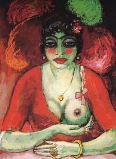 Femme Fatale Artwork By Kees Van Dongen Oil Painting & Art Prints On Canvas For Sale Henri Matisse, Wassily Kandinsky, Art Fauvisme, Karl Schmidt Rottluff, Raoul Dufy, Van Gogh Museum, Guache, Dutch Painters, Modern Artists