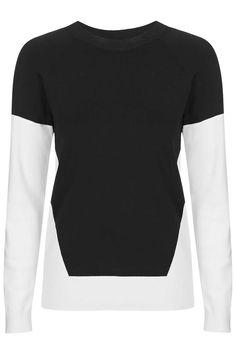 PETITE Colour-Block Sweat - Clothing- Topshop Europe