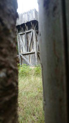 Wooden door...