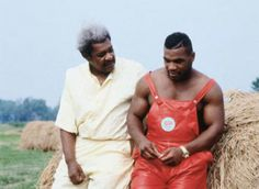Don King, Mike Tyson and a Hay Bale