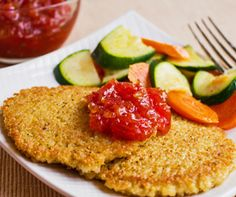 """Quinoa Cakes:  uses paprika:  made 01-13-13; I am new to quinoa but like this slightly better than regular quinoa; would be good with sauce and is easy to make; was not """"wowed"""" with recipe but is good."""
