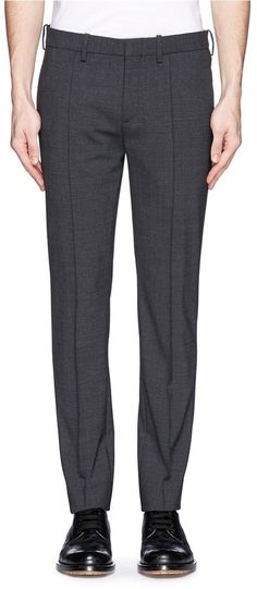 $550, Charcoal Wool Dress Pants: Neil Barrett Curve Back Zip Pocket Pants. Sold by Lane Crawford. Click for more info: http://lookastic.com/men/shop_items/194363/redirect