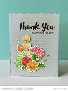 Such a Gorgeous card created by Donna Mikasa using New Exclusives by My Favorite Things for Simon Says Stamp STAMPtember