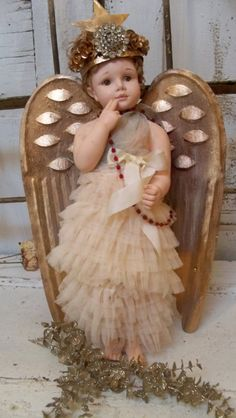 Large angel doll figure shabby chic large by AnitaSperoDesign, $175.00