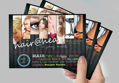 Logo Design, Printed Flyers to advertise Hair mobile service. My Design, Logo Design, Freelance Graphic Design, Portfolio Design, Flyers, Advertising, Printing, Pure Products, Logos