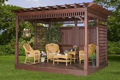 Pergola idea with privacy screen