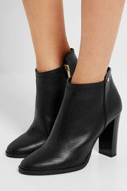 Hart textured-leather ankle boots
