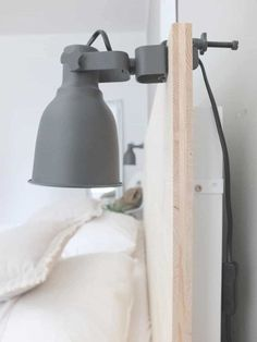 Residential gold piece_Ikea Hack Malm bed back wall - Ikea DIY - The best IKEA hacks all in one place Ikea Hack Malm, Ikea Lit Malm, Cama Malm Ikea, Ikea Hack Lit, Ikea Lamp, Ikea Bedroom, Bedroom Decor, Bedroom Lighting, Master Bedroom