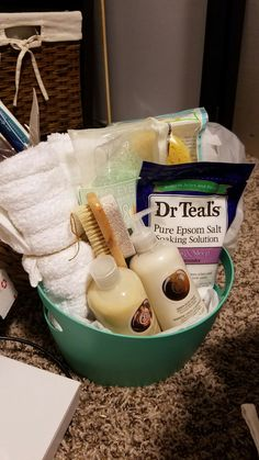 Spa Relaxation Gift Basket. Silent auction fundraiser for work (2016)