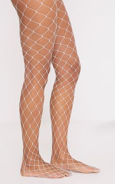 c313a5ad12d Inari White Large Fishnet Tights