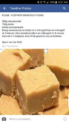 me ~ Mikrogolf fudge Fudge Recipes, Candy Recipes, Sweet Recipes, Baking Recipes, Dessert Recipes, Desserts, Baileys Recipes, Milk Recipes, Tart Recipes