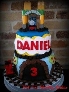 Thomas the Train Birthday Cake ~ Not Too Shabby Bakes.