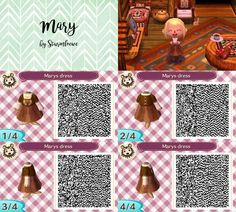 Animal Crossing New Leaf qr code marys cute dress outfit mary frontier netflix series crossover acnl design by sturmloewe