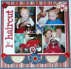 baby layouts scrapbooking | Layout: Babys First Haircut