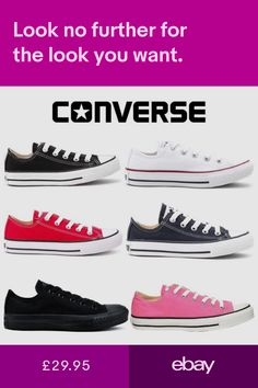 148b2a1f12b6 Converse Classic Chuck Taylor Low Trainer Sneaker All Star OX NEW sizes  Shoes. Trainers Clothes