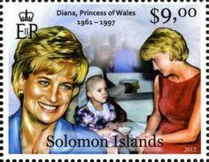 Sello: Diana, Princess of Wales (Solomon Islas) (Royal Charity)