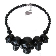Black Skulls Necklace – DeadRockers