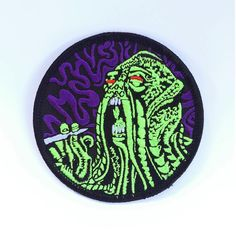 #Repost @luxiver  Get lit with the beast!  The Kushthulu patch is available now on our site. Link in bio. #kushthulu #cthulhu #lovecraft #patch #patchgame #weed #marijuana #ganja #high