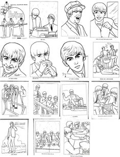 Beatles on pinterest paul mccartney the beatles and for Beatles coloring book pages