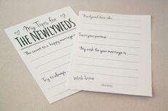 Newlywed Tip Jar Printable: DIY Guest Book Alternative: Newlywed Advice ♥ http://www.confettidaydreams.com/newlywed-tip-jar/