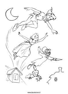 Guarda tutti i disegni da colorare di Peter Pan www.bambinievacanze.com