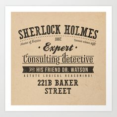 Sherlock Holmes -Consulting Detective- Throw Pillow by Azafran - Cover x with pillow insert - Indoor Pillow Sherlock Holmes, Sherlock Poster, Sherlock Cast, Detective, The Empty Hearse, Day Of The Shirt, Literary Characters, Jeremy Brett, Guy Ritchie