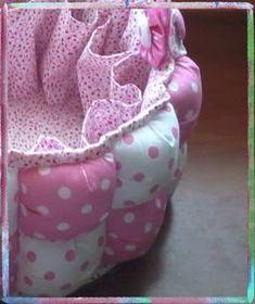 Patchlomaideas: Canastilla para bebe Puff Quilt, Decoration, Piggy Bank, Lunch Box, Basket, Quilts, Sewing, Crochet, Diy