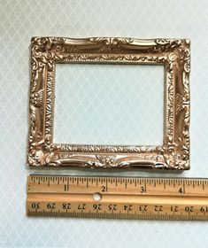 Dollhouse Miniature Large Fancy Gold Picture Frame for Painting Scale Blythe House, Gold Picture Frames, Decorative Accessories, Dollhouse Miniatures, Scale, Barbie, Houses, Fancy, Pictures