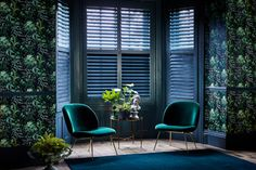 If you have large bay windows, the chances are you're overlooked by neighbours or passers-by. Full height shutters from Wooden Shutters, Skylight Blinds, Blinds For Windows, Bay Windows, Skylights, Interior And Exterior Angles, Interior Design, Bay Window Living Room, Home