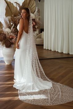 Jordan is French crepe luxury and striking simplicity. She will hug all the right places with classic elegance. French Crepes, Lace Wedding, Wedding Dresses, Classic Elegance, Veil, Hug, Jordans, Bridal, Elegant