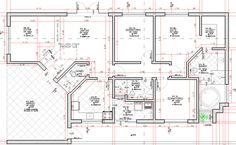 Planta Baixa do nosso projeto do Curso Projeto Arquitetônico com AutoCAD