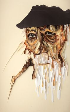 Quilled Portrait by Yulia Brodskaya