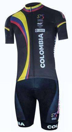 Uniforme Ciclismo Colombia 2016 Corto Tirantes Badana En Gel - $ 149.990