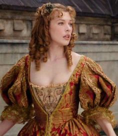 Milla Jovovich as Milady de Winter in The Three Musketeers, 2011 Period Costumes, Movie Costumes, Cosplay Costumes, Moda Medieval, Medieval Dress, Milady De Winter, Musketeer Costume, 17th Century Fashion, The Three Musketeers