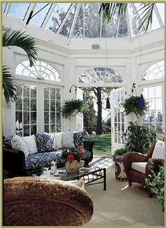 Classic conservatory interior by Tanglewood Conservatories, via Flickr