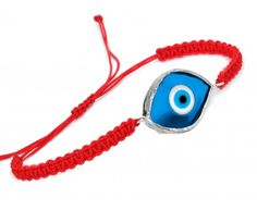 Blue Mati Red String Eye Bracelet for Good Luck Red String Bracelet, Evil Eye Bracelet, Eyes, Bracelets, Silver, Gold, Handmade, Blue, Hand Made