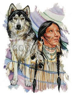 Southwest Indian Wolf T - SHIRT  Item no. 777c - pinned by pin4etsy.com
