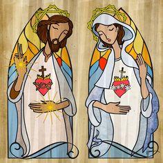 Corações de Jesus e de Maria