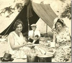 1930's camping party for a 102 year old momma