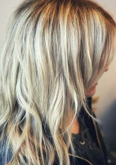 Best ideas of shaggy balayage blonde hair color trends for 2018.