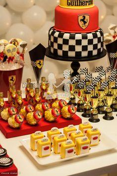 Ferrari cars cake birthday parties 39 ideas for 2019 Car Cakes For Boys, Race Car Cakes, Festa Hot Wheels, Hot Wheels Party, Ferrari Party, Ferrari F1, Baby Boy Birthday Cake, 2nd Birthday, Race Car Party