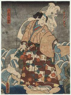 Sawamura Chojuro V Ghost of a Dog, 1852 by Toyokuni III/Kunisada (1786 - 1864)