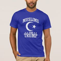 Muslims For Trump T-shirt, Men's, Size: Adult M, Lapis Muslim Men Clothing, Bernie Sanders, Funny Tees, T Shirts, American Apparel, Firefighter Humor, Firefighter Workout, Firefighter Training, Fitness Models