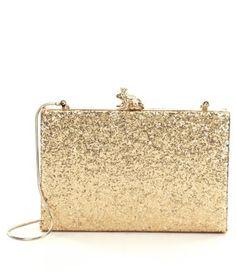 kate spade new york Wedding Belles Kissed A Frog Metallic Glitter Clutch #Dillards
