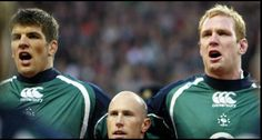The fact that they stood Peter Stringer between the six foot six Donnacha O'Callaghan and six foot seven Paul O'Connell always made me laugh lol Ireland Rugby, Irish Rugby, Rugby League, My Passion, I Laughed, Sports, Sport
