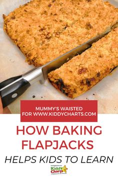 Did you know that baking flapjacks helps kids to learn? Not only does ths help kids learn to cook but they will learn STEM along the way! Check out this post to get your kids involved and don't forget to Pin it for later! Science Fun, Baking Tins, Help Kids, Sugar Free Recipes, Learn To Cook, Cooking With Kids, Picky Eaters, Young Children, Along The Way