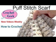 Crochet Puff Stitch Loop – Scarf for beginners and intermediates – Star Pattern - YouTube